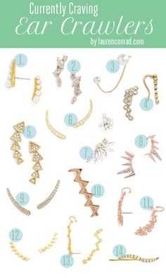 Currently craving these chic and trendy ear crawlers!