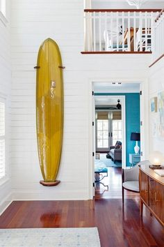 home decoration ideas with surf theme which you definitely like page 5 Surfboard Storage, Surfboard Rack, Surfboard Decor, Surfboard Table, Surf Decor, Decoration Surf, Surf Shack, Beach Shack, Surf House