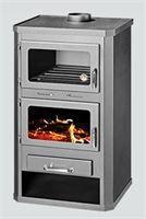 CV-Houtkachel met oven : Geeft 20-KW vermogen af aan het CV-Systeem