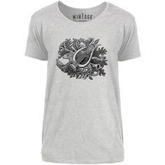 Mintage Botanical Harp Mens Scoop Neck T-Shirt