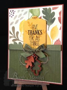 Barb Stencel: Beeline Stamping – Time for a Blog Hop! - 9/1/14 (SU - For All Things stamps, Autumn Wooden Elements, Color Me Autumn dsp)