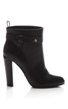 Leather Ankle Boot by Sergio Rossi - Moda Operandi