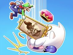 Luigi's Mansion- True End Super Mario And Luigi, Super Mario Games, Super Mario Art, Super Mario World, Luigi Mansion, Nintendo World, Nintendo Games, Mario Fan Art, Luigi And Daisy