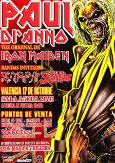 Entradas para Paul Di'anno en Valencia el 17 de octubre 2014 en notikumi