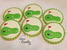 Golf Tips Wrist Hinge Golf Cookies, Iced Cookies, Easter Cookies, Royal Icing Cookies, Yummy Cookies, Sugar Cookies, Christmas Cookies, Kinds Of Cookies, Cut Out Cookies