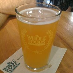 Clementine White Ale @ Whole Foods Market - Fantastic wheat beer with just a hint of citrus... And a great selection at 'Lakewood On Tap'