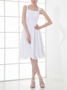 White Short Party Dress in Flash Sale Activity
