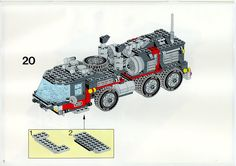 LEGO 5590 Whirl and Wheel Super Truck instructions displayed page by page to help you build this amazing LEGO Model Team set Lego Basic, Lego Sets, Lego Models, Lego Instructions, Planer, Projects To Try, Tutorials, Trucks, Godzilla