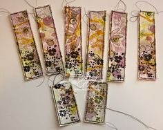 Spark. Canvas Bookmark tutorial. 2-part tutorial. Something like a masterboard, using gesso, on canvas.