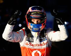 Formula 1 Australian GP - Jenson Button celebrates his victory at Albert Park