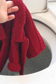 #Tutorial on how to wash your handmade crocheted and knitted wool items without felting them. (I do this all the time!)