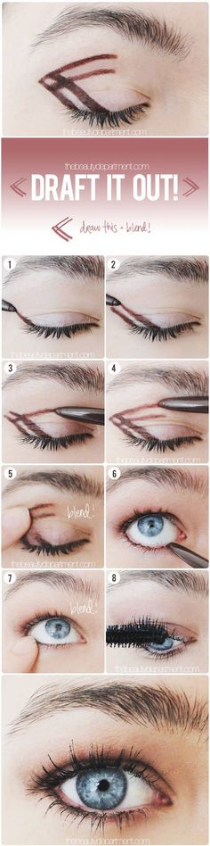 Easy smoky eye - Smoky eyes are up there with cat eyes on the intimidation list. But if you can draw lines in a checkerboard, you can create a smoky eye! Don't worry about it being an exact duplicate of what I did above, just make sure you have the right liner formula and prep your lid with foundation first, otherwise, it won't work. Here's how...