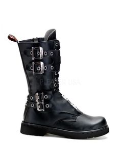 386e1bef7b64f8 Defiant 302 Mens Vegan Leather Combat Boot – Demonia Riveted Boot … – Best  Shoes Ideas