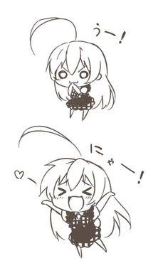 """nagas:  (」・ω・)」うー! (/・ω・)/ にゃー! on Twitpic   """