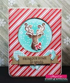"""Welcome to Day 3 of our Stamp of Approval  """" Candy Cane Lane """" collection Blog Hop!   What is Stamp of Approval?  It's a box of amazing c..."""