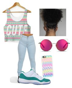"""""""Turn up tonight"""" by vegasdoll143 on Polyvore featuring NIKE, Matthew Williamson and Casetify"""