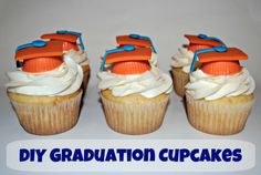 DIY Graduation Cupcake Tutorial