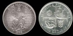 1000 escudos, prata, 1098