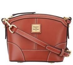 c981bf3a11 Dooney  amp  Bourke Selleria Florentine Leather Crossbody - Page 1 — QVC.com  Dooney