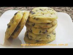 Galletitas con chips de chocolate - Cookies con chispas de chocolate - YouTube