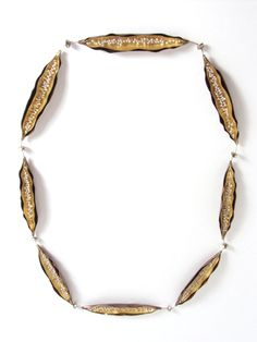 Barbara Paganin - necklace Bacceli, 1999 silver, gold, antique beads, pearls - L 50,5 cm, 105 x 18 x 5 mm