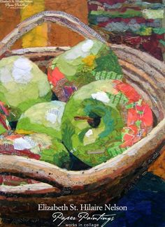 Elizabeth St. Hilaire Nelson, Green Apples Still Life