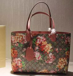570efdfaaac Gucci 368571 Revesible GG Rose Blooms Leather Tote 2015