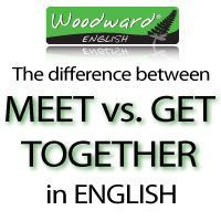 The difference between Meet and Get together It's Friday night and you have plans to have a drink with your friends. So what expression do we use in English to explain that you will join with your ...