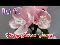 In this video, I try to make a Cherry-Blossom with Satin Ribbons. A cherry blossom is the flower of any of several trees of genus Prunus, particularly the Japanese Cherry, Prunus serrulata, which is sometimes called Sakura after the Japanese. Diy Lace Ribbon Flowers, Kanzashi Flowers, Leather Flowers, Diy Ribbon, Satin Flowers, Ribbon Work, Fabric Ribbon, Ribbon Crafts, Flower Crafts