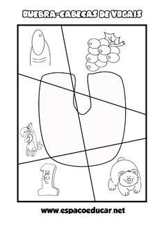 ESPAÇO EDUCAR Activities For Kindergarten, Language Activities, Interactive Activities, Sight Word Activities, Letter E Activities, Preschool Alphabet Activities, Letter Activities, Learning Activities, Preschool Worksheets
