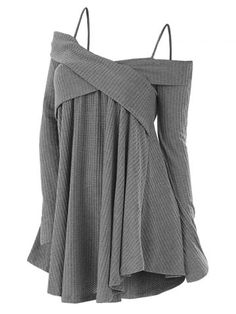 Plus Size Cold Shoulder Crisscross Tunic Sweater Casual Women Tops Pullover Solid Loose Fall Sweaters Jumpers Pull Femme Dark Gr Tunic Sweater, Grey Sweater, Long Sleeve Sweater, Outfits Leggins, Outfit Jeans, Sweater Outfits, Fall Sweaters, Long Sweaters, Oversized Sweaters