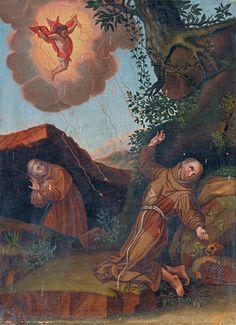 Eymard Simon, Stigmatisation de saint François d'Assise, France ; Provence-Alpes-Côte d'Azur ; Hautes-Alpes ; Abriès, Chapelle de pénitents by renzodionigi, via Flickr