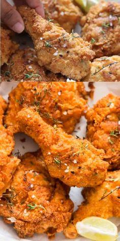 Fried Chicken Brine, Fried Chicken Batter, Making Fried Chicken, Buttermilk Fried Chicken, Fried Chicken Recipes, Cooking Recipes, Cooking Videos, Dip Recipes, Fried Lobster Tail
