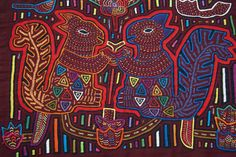 Old Kuna Mola Applique Textile Art Hand Stitched Squirrel Motif Details Maze 39A | eBay
