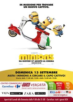 Arrivano i #Minions domenica 13 settembre al #cctorvergata