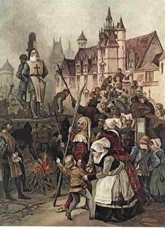 Jacques de Molay, last Grand Master of the Templars, being burned at the stake♥  ♥ ✿ Ophelia Ryan✿♥ 💋