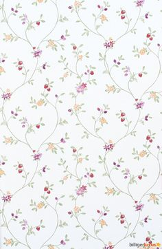 Wallpaper Rasch Blooming Garden satin wallpaper 001177 flowers white green Wallpapers Rasch Textil Blooming Garden