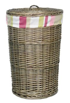 Willow Weaving, Striped Linen, Laundry Basket, Antiques, Shop, Home Decor, Antiquities, Antique, Decoration Home