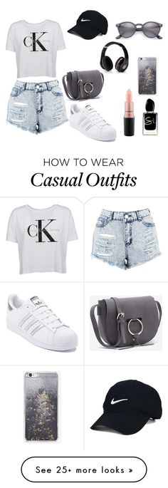 """""""Casual"""" by megeller on Polyvore featuring Boohoo, adidas, Ray-Ban, Skinnydip, Nike Golf, MAC Cosmetics, Giorgio Armani and Beats by Dr. Dre"""