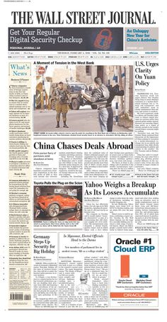 #20160204 #USA #CHINA #HongKong #TheWallStreetJournalASIAedition Thursday FEB 4 2016 http://www.newseum.org/todaysfrontpages/?tfp_show=80&tfp_page=10&tfp_id=WSJA