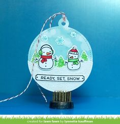 the Lawn Fawn blog: Lawn Fawn Intro: Santa's Belly, Stitched Circle Tags, Scripty For You, and Winter Alpaca