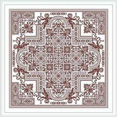Mandala Cherubin ornaments Digital Сross stitch