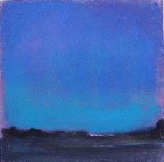 winter twilght in pink by Loriann Signori Pastel ~ 6 x 6