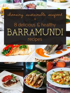 8 Delicious and Healthy Barramundi Fish (found in frozen food section at Trader Joe's) Recipes plus tips on choosing sustainable seafood Fish Recipes, Seafood Recipes, Cooking Recipes, Healthy Recipes, Barramundi Fish Recipe, Fish Dishes, Main Dishes, Aussie Food, Sustainable Seafood