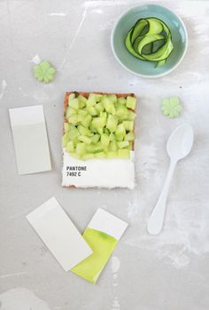 #lifeinstyle #greenwithenvy   pantone tarts by emilie de griottes