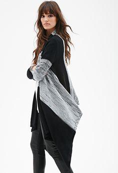 Marled Stripe Shawl Collar Cardigan | FOREVER 21 - 2000117028
