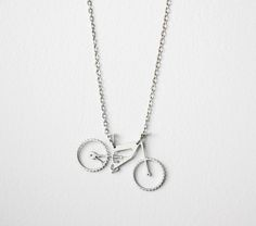 Lange Kette mit Fahrrad // long necklace, bicycle pendant via DaWanda.com