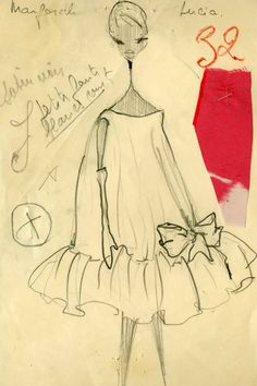 Baby doll dress. Balenciaga Spring Summer 1958.
