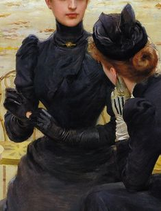"""Conversation in the Jardin du Luxembourg"" - Vittorio Matteo Corcos"