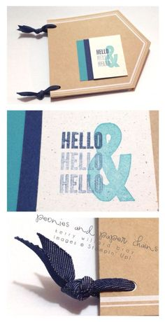 Stampin' Up! Hello Lovely stamp set, Kerry Willard Bray, Peonies and Paper Chains blog mini book, stampin up